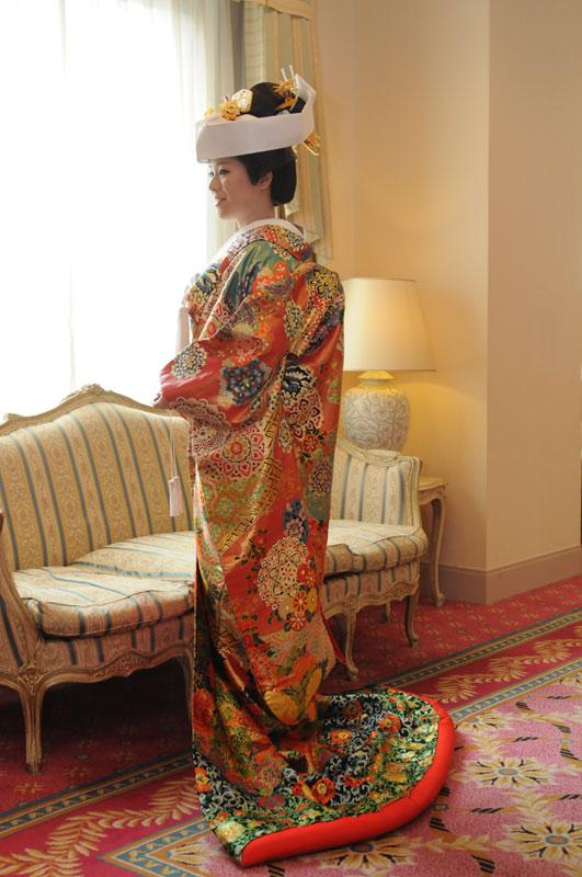 婚礼衣装の拡大写真