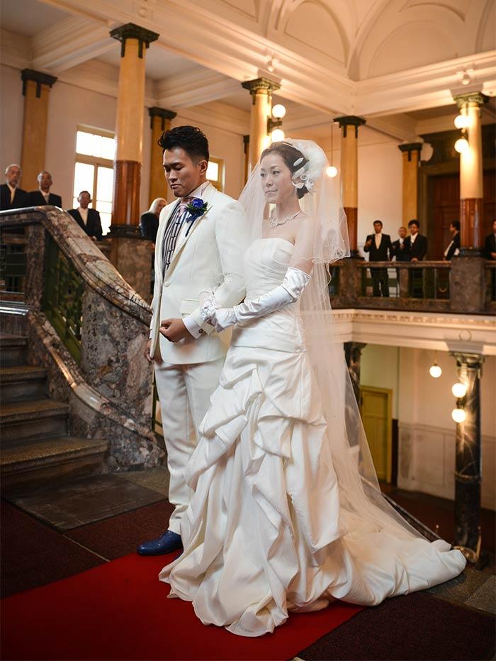 名古屋市市政資料館で結婚式を挙げました