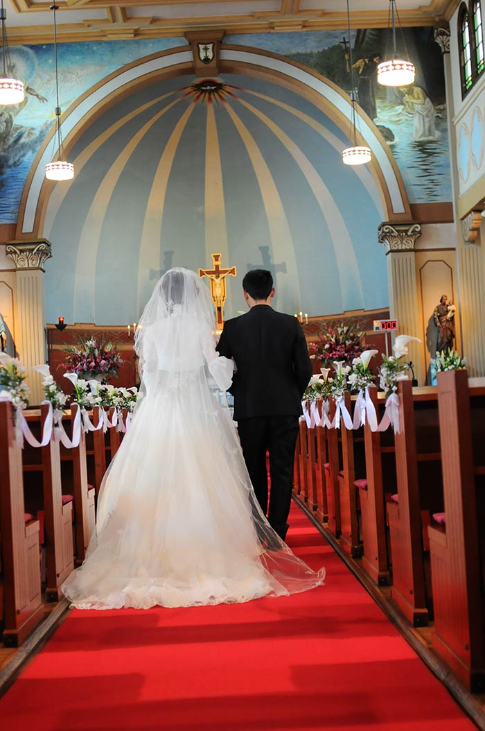 日本三大修道院のひとつ多治見修道院で結婚式を挙げました